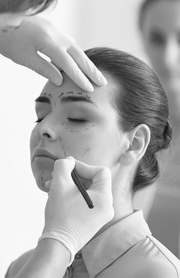 Plastic Surgeon in Cyprus preparing facial surgery for their client